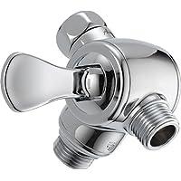 Delta U4929-PK 3 向淋浴臂分流器适用于手持式淋浴, 镀铬色 3.00 x 3.00 x 3.00 inches U4929-PK
