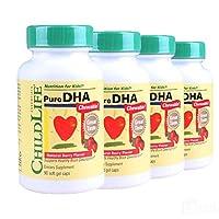 Childlife童年时光 Pure DHA软胶囊婴幼儿婴儿童宝宝时光挪威鱼油 90粒4瓶