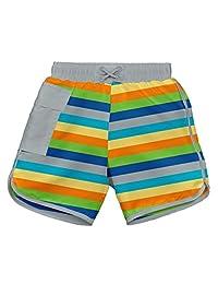 I PLAY 婴儿和学步男孩条纹口袋 Trunks ,内置游泳尿布