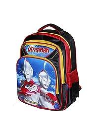 咸蛋超人 奥特曼超人小学生书包幼儿园儿童卡通双肩书包男童1-3-4-6年级周岁TY-300094红色(亚马逊自营商品, 由供应商配送)