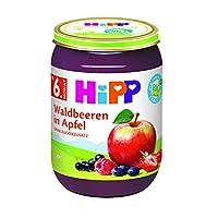 HiPP 喜宝 婴儿果泥 适用于6月以上婴儿 苹果/浆果味,6瓶装(6 x 190g)