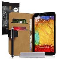 Yousave Accessories sa-ea02-z531p 钱包皮质手机壳带手写笔适用于三星 Galaxy Note 3 黑色