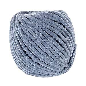 天然棉绳 - 5mm x 50m - 多种颜色选择 - Macramé 壁挂钩针编织行星挂钩 Ceil 蓝色 CTNROPE-5MM-50MCEILBLUE-~WCP_MZ815