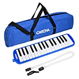 CASCHA HH 2060 Melodica 带口袋和嘴,儿童和初学者的乐器,蓝色