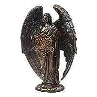 Ebros Talmudic Judaism 天使持有 生命神圣花几何立方体雕像 25.4 cm H 天使天使天体刻标前景雕像