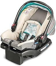 美国Graco 葛莱 舒尔提篮系列 安全提篮 婴儿提篮 新生儿专用 婴儿汽车安全座椅提篮 带底座支架 与推车搭配 棕色 0-1岁 8AG96SMSN