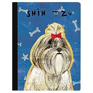 "Tree-Free Greetings Beautiful Composition Notebook 覆盖 多种颜色 Shih Tzu 9.75 x 7.25"""