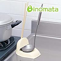 日本进口 inomata 厨房汤勺架 筷子架 多功能餐具架 (两个装)