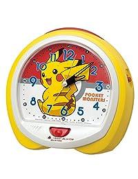 Seiko 精工 座钟 台式时钟 黄色 尺寸:13.0 x 14.0 x 9.6cm 口袋妖怪 皮卡丘 模拟 可切换 CQ421Y
