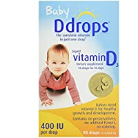 Ddrops 400 IU兒童滴劑,2件裝,90滴,2.5毫升,0.08盎司(約2.26克)