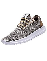 keezmz 男式跑步鞋 时尚透气运动鞋 网面 软底 休闲运动 轻质