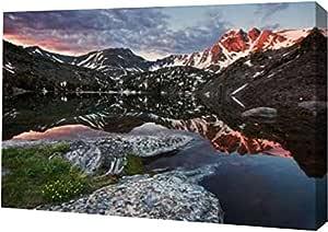 "PrintArt GW-POD-67-35067-24x16""First Light"" 来自 Doug Roane Gallery Wrapped Giclee 油画艺术印刷品,60.96 cm x 40.64 cm"