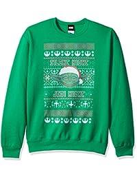 fifth SUN 星球大战男式圣诞丑毛衣 Yoda silent NIGHT 运动衫