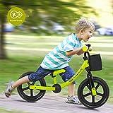Kinderkraft 德国 平衡车儿童自行车男女12寸小孩单车 1-5岁 (绿色) 德亚同步