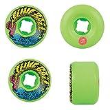 Santa Cruz Neon Green Slime Balls Vomit Mini 97A - 56Mm Skateboard Wheels (Default, Green)