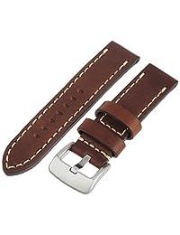 Tech Swiss LEA1555-22 mm 牛皮棕色表带。