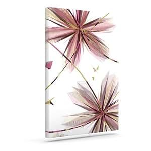 "Kess InHouse Alison Coxon""花紫红色""户外帆布墙壁艺术 24"" x 30"" AC1007AAC05"