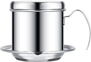 DEWIN 滴滤咖啡壶 不锈钢滴滤咖啡机 便携式 适用于家庭 厨房 办公室 户外 3 种颜色(颜色:银色)