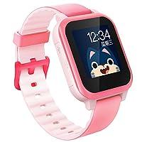 (搜狗)糖猫儿童智能电话手表通话定位wifi故事课堂禁用彩屏手表E2轻盈版(移动、联通) (粉色)