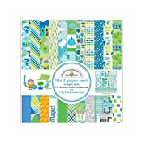 "Doodlebug Double-Sided Paper Pack 12""X12""-Dragon Tails"