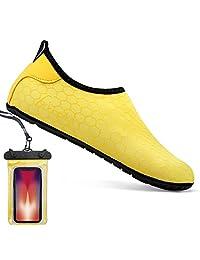 Bopika 赤脚鞋 水上运动鞋 速干水蓝色瑜伽袜 适合女士 男童