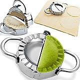 Dumpling Maker - Dumpling Press/不锈钢 Empanada Press/Pie Ravioli Dumpling Wrappers 模具厨房配件(9.5 厘米/3.74 英寸大号)