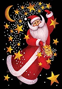 托兰家庭花园天使圣诞老人 71.12 x 101.60 cm 装饰圣诞节假日舞金色星房旗