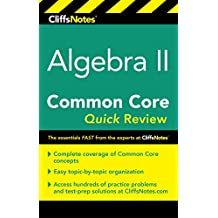 CliffsNotes Algebra II Common Core Quick Review (English Edition)