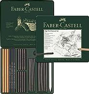 Faber-Castell 辉柏嘉 112978 – Pitt 炭笔套装 金属盒,24件