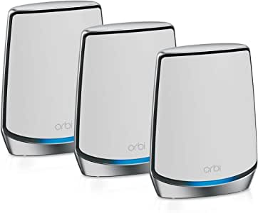 Netgear Orbi 自动 黑色 Mesh无线路由器RBK853-100EUS  Mesh WLAN | WiFi 6 Speed 3er Set