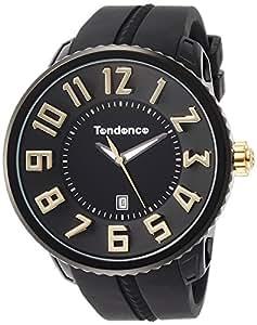 [天登斯]TENDENCE 手表 GARIBER圆形 黑色表盘 TG430011 【正规进口商品】