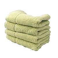 毛巾泉州特色毛巾4条装日本制造100% 全棉吸水性强  スプリンググリーン 商品サイズ(cm):幅約34×奥行約100×高さ約0.2