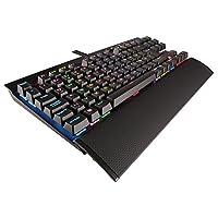 Corsair K65 Rapidfire 机械游戏键盘 ( cherry MX Speed , 多种颜色 RGB 照明 , QWERTZ ) 黑色