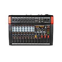 Audio2000'S AMX7373 8 声道音频混音器,带 320 DSP 音效,立体声子输出,带减低级别控制渐变器,所有声道上的水平控制渐变器,以及 USB / 计算机接口