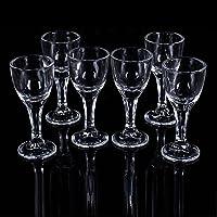 青苹果 玻璃烈酒杯 一口杯 小吞杯 子弹杯 白酒杯(6个套装) (经典款)