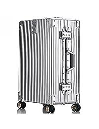 袋黛安 旅行箱密码箱万向轮行李箱24铝框箱拉杆箱20登机箱26\29寸男女 (26寸, 银色)