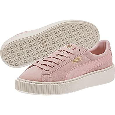 PUMA SUEDE PLATFORM MONO SAT 中性 365828 03 Pink WhiteUS9 板鞋 (亚马逊自营 保税区发货)