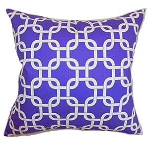 """枕头系列 Qishn 几何 Euro 枕套 紫色白色斜纹 紫色/白色 Standard/20"""" x 26"""" STD-PP-GOTCHA-PURPLE-WHITE-TWI"""