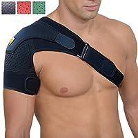 肩带支撑 - 防受伤护踝 - 关节*释放 - 肩带压缩包裹带 - 肩膀可调节*配件 - FIGHTECH 优质绑带(MT) ONE/BLK 1.00
