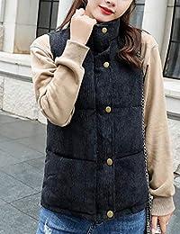 杨埔 秋冬装棉服女韩版修身短款背心上衣外套休闲显瘦开衫马甲背心外套棉衣
