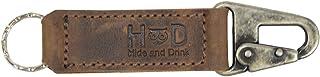 Hide & Drink,皮革钥匙圈架/钥匙扣/皮带环配件手工制作包括 101 年质保:波旁棕色