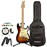 Sawtooth Classic ES 60 Alder Body Electric Guitar, Gig Bag, Cable, Picks, Strap, Tuner and Stand 旭日