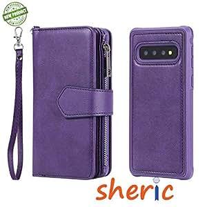 三星 S10 Sheric 磁性可拆卸钱包式手机壳 紫色