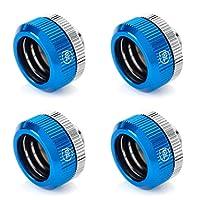 Touchaqua G1/4 英寸双 O 形环紧固配件适用于 16 毫米外径硬管(仅适用于 Bitspower 刚性管)TR-TA-DOTFH1622-BL-4P