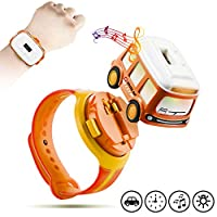 Ayeboovi 校车玩具 幼儿车 触摸控制和轻便儿童车 带数字手表腕带 学龄前玩具礼物 适合 3 - 4 - 5 岁儿童(橙色)