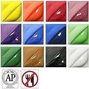 Amaco 天鵝絨釉套裝 4 件套 - 12 種顏色 - 56.7 克。 罐