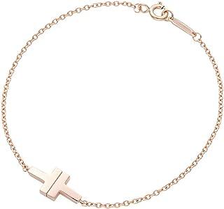 [蒂芙尼] TIFFANY 18KRG 玫瑰金 Tiffany T TWO 單個 鏈子 手鏈 中號 17cm 62273240