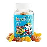 Gummi King 多种维生素和矿物质,水果,蔬菜和纤维软糖,草莓/柠檬/橙子/葡萄/樱桃/葡萄柚,60粒