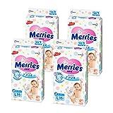 Merries 花王 秒而舒纸尿裤L54(4包,整箱装) (日本进口 保税区发货)(包邮包税)