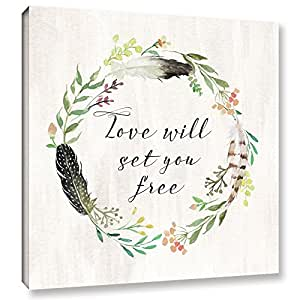 Tara Moss's Love will Set You Free Square, Gallery Wrapped canvas 14x14